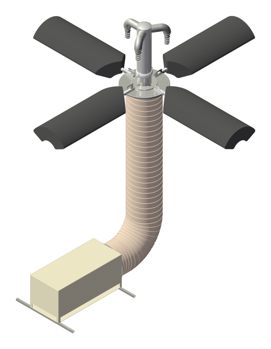 an image drawing of a GridBee® SN Series THM Removal Spray System