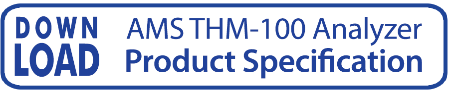 button linking to brochure for AMS tHM-100 Predictive THM Analyzer