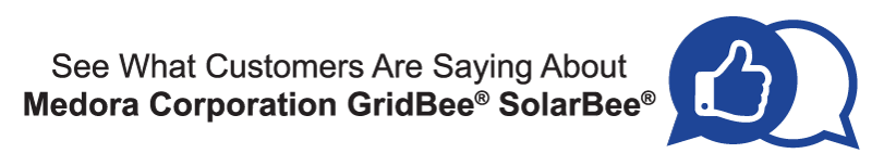 button to ho to Medora Corporation GRidBee® SolarBee® Happy Customers Review page