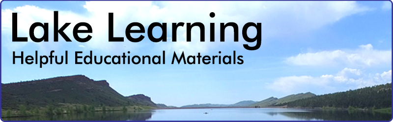 header image for lake learning educational materials newsletter section