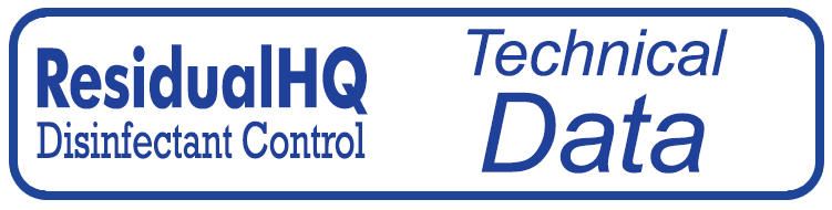 button for ResidualHQ Disinfectant Control Systems equipment technical data link