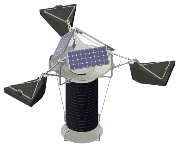 an image drawing of a SolarBee® SB Series Solar Powered Mixer / Circulator