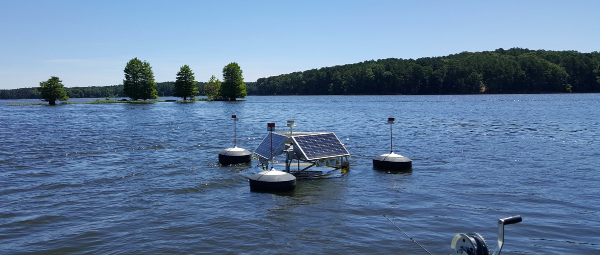 SolarBee® Lake Circulator deployed in a lake