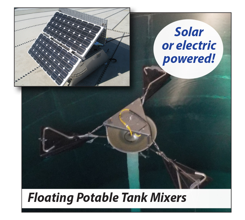 image showing the solarbee potable water tank mixer