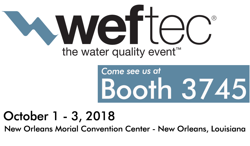 image for booth 3745 at weftec 2018 in New Orleans, Louisiana